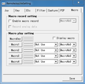 Macro - RemoteJoyLite
