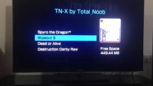 Photo du TN-X par REPREP sur une PS TV