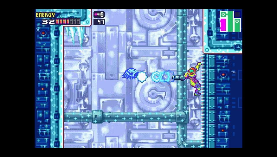 Screenshot de Metroid Fusion sur mGBA