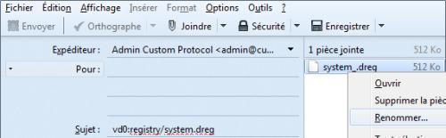 envoyer system dreg mail reinstaller