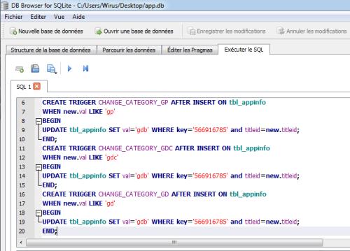 instructions sql whitelist ps tv jouer tous jeux vita sqlite browser