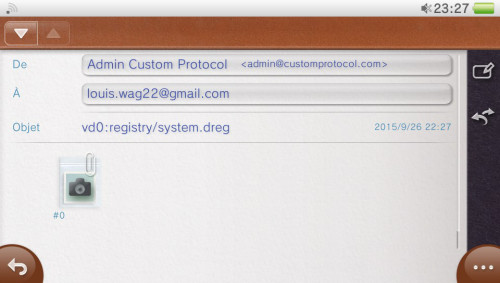reinstallation email system dreg touche validation par defaut