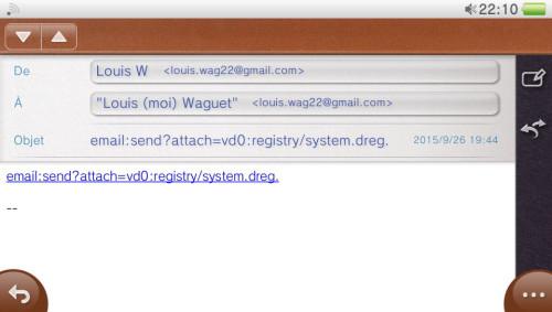 system dreg envoyer mail lien