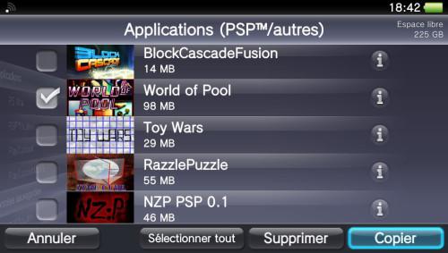 Copier jeu exploité PS Vita vers PC via QCMA