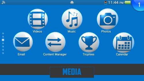 Blue XBM, thème PS Vita par ACViper