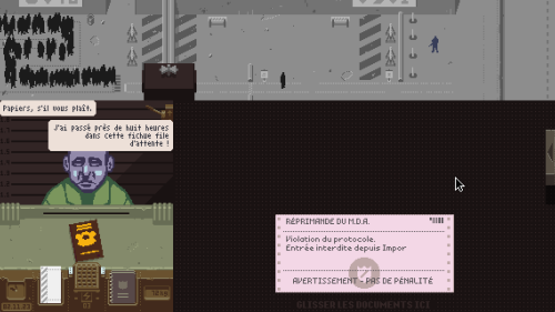 Papers, please - Pas vu, pas pris