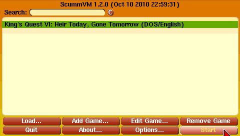 Screenshot de ScummVM par joostp et bluddy
