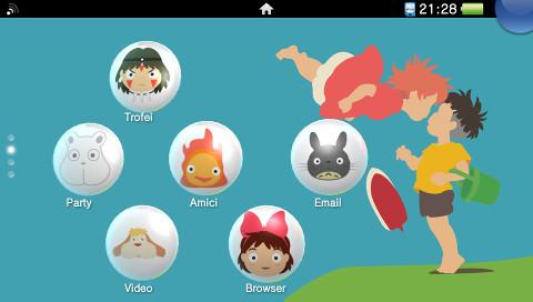 Studio Ghibli, thème PS Vita par Red Squirrel