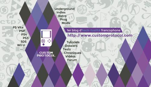 Carte de visite concours 1 an de Custom Protocol