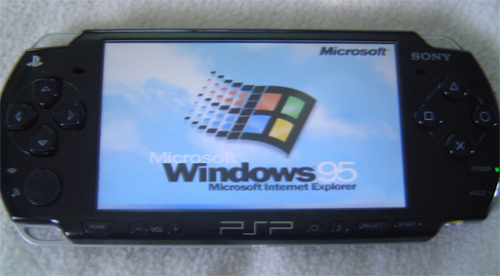 Windows 95 sur PSP, c'est possible via DOSBoxCrédit photo : Mod This.