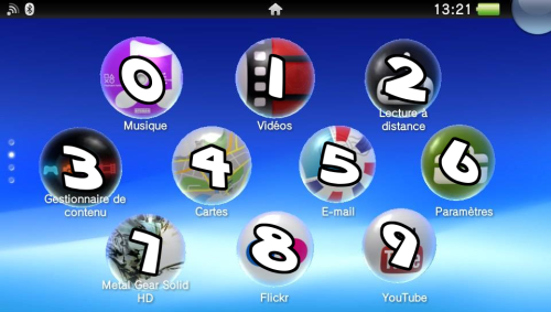 Live Area PS Vita ordre bulles bubbles