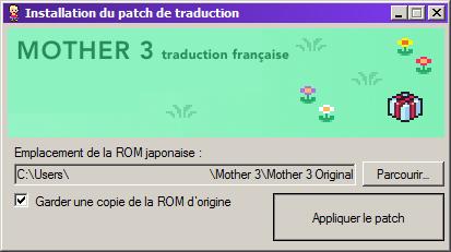 Mother 3 lancer installation patch traduction français