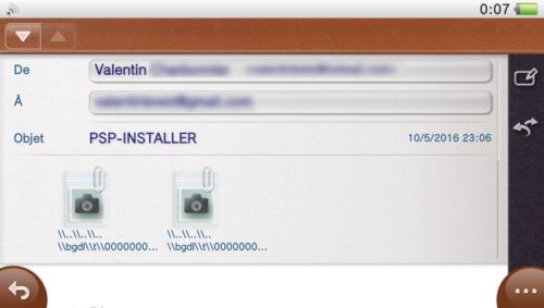 Tuto PSP-Installer fichiers reçus par mail