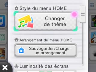 Changer theme 3DS menu home