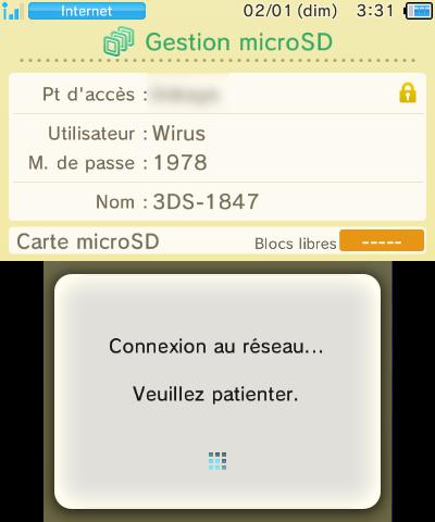 Gestion microSD New 3DS connexion réseau