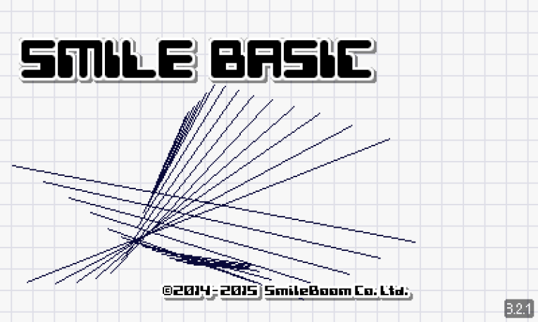 SmileBASIC screenshot menu principal