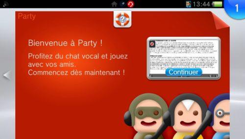 Party application LiveArea manuel Vitamin