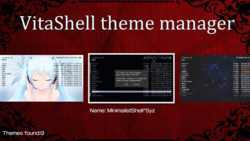 On retrouve la liste des thèmes disponibles sur la console.