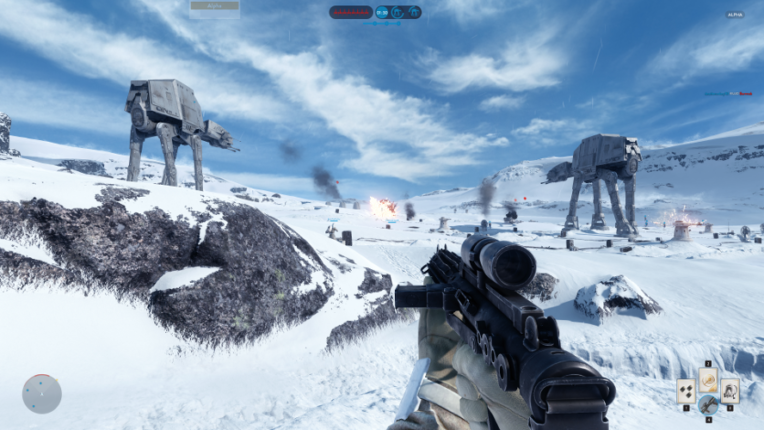 Capture d'écran de Star Wars BattlefrontCrédit screenshot : Gamalive
