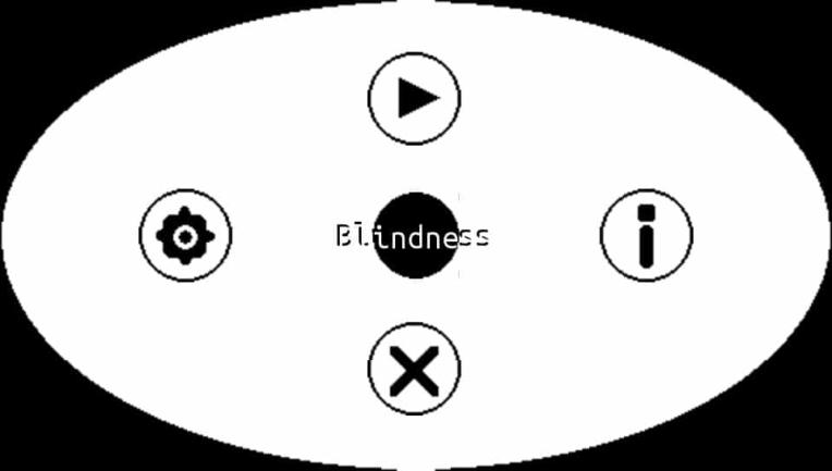 Capture d'écran de Blindness II, homebrew PSP et PS Vita développé par Applelo