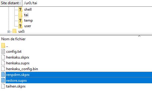 Placez les deux fichiers au bon endroit